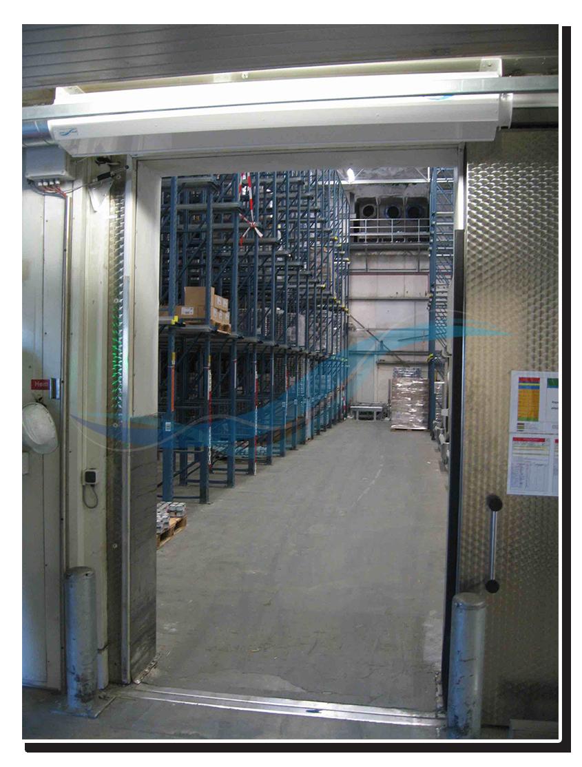 AFIM Luchtdeur - luchtgordijn voor vriescel, vrieshuis, vriezer (ipv snelloopdeur)