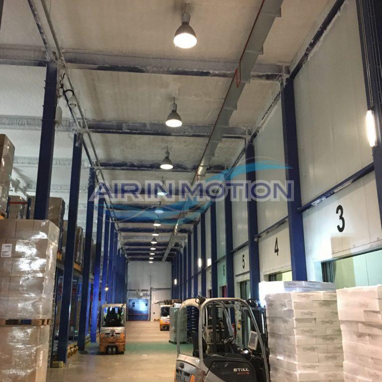 Assèchement d'air formation de glace entrepôt frigorifique