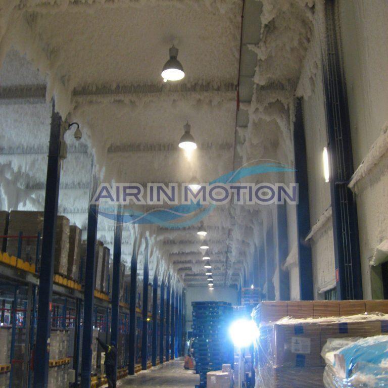 Assèchement d'air formation de glace entrepôt frigorifique Air In Motion